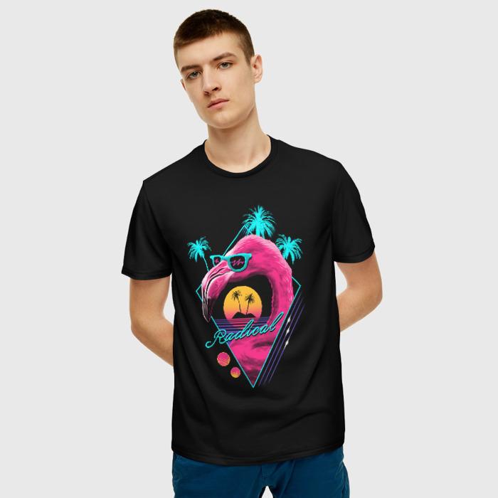 Merchandise Men'S T-Shirt Print Flamingo Black Hotline Miami
