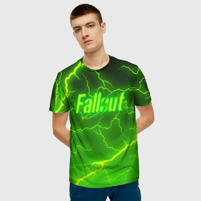 Merchandise Men'S T-Shirt Green Lighting Picture Fallout