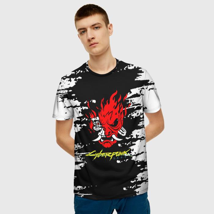 Merch Men'S T-Shirt Merch Samurai Cyberpunk Black Design
