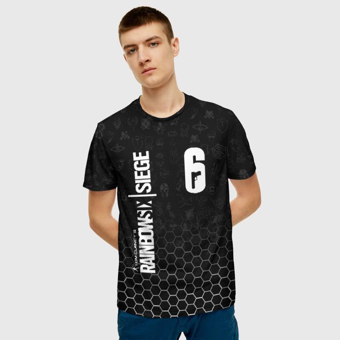 Merch Men'S T-Shirt Merchandise Rainbow Six Siege Black Print