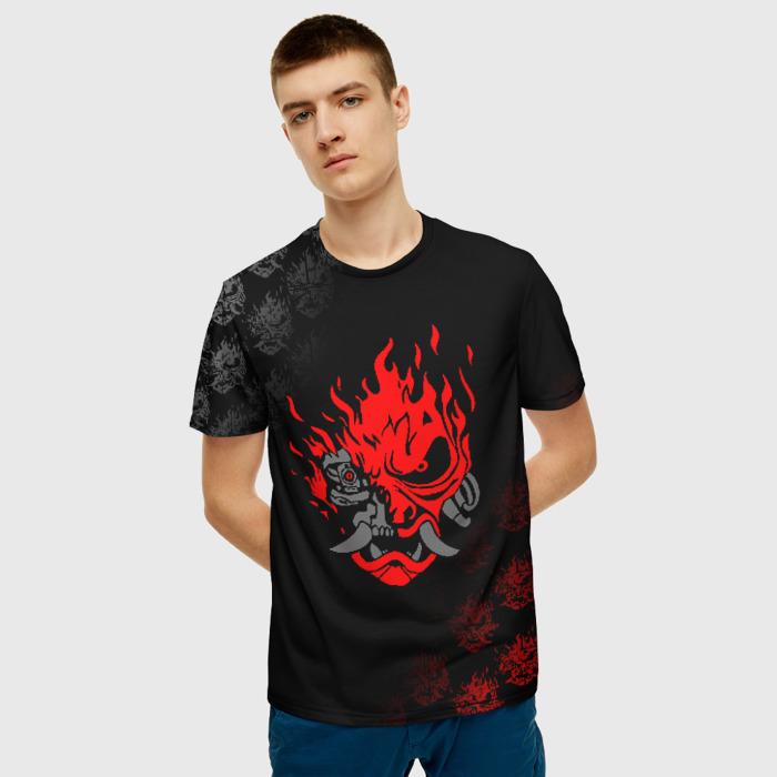 Merchandise Men'S T-Shirt Picture Merch Cyberpunk Black