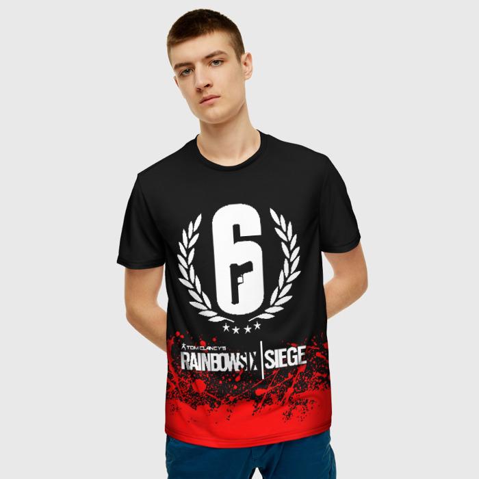 Merch Men'S T-Shirt Image Merch Rainbow Six Siege Design