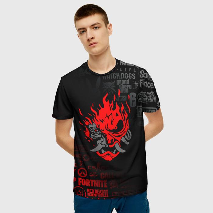 Collectibles Men'S T-Shirt Design Samurai Emblem Cyberpunk