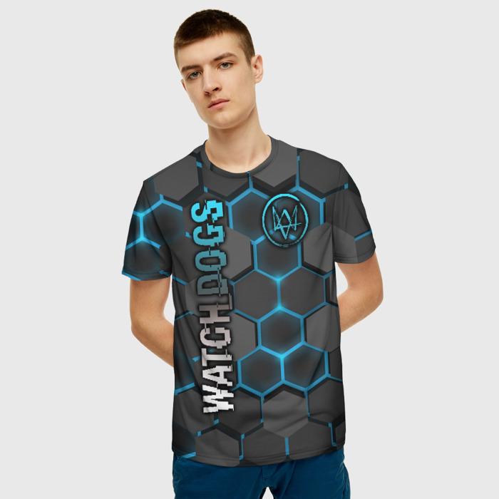 Merch Men'S T-Shirt Outline Game Watch Dogs Print Merch