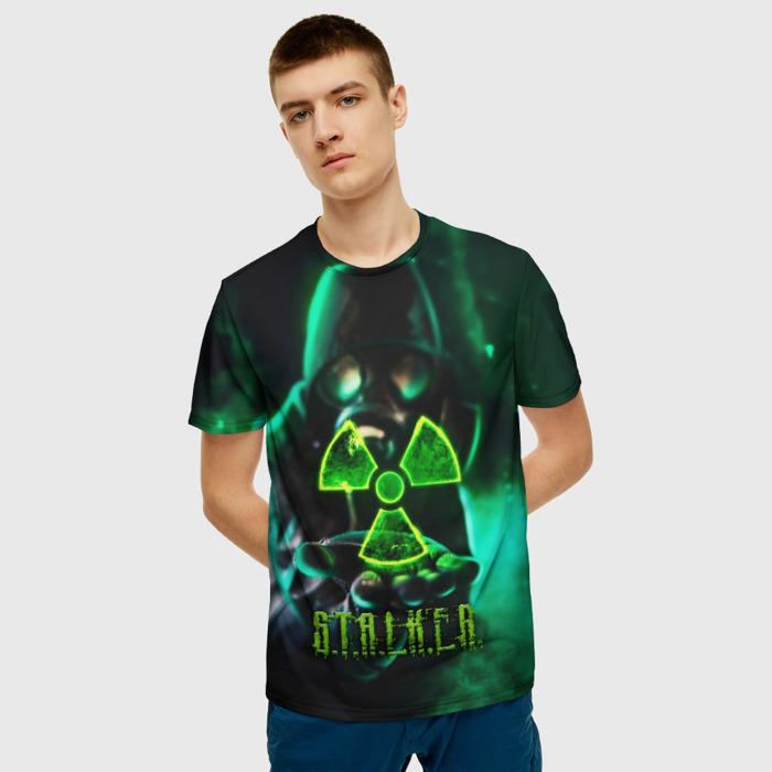 Merchandise Men'S T-Shirt Game Image Stalker Green Print