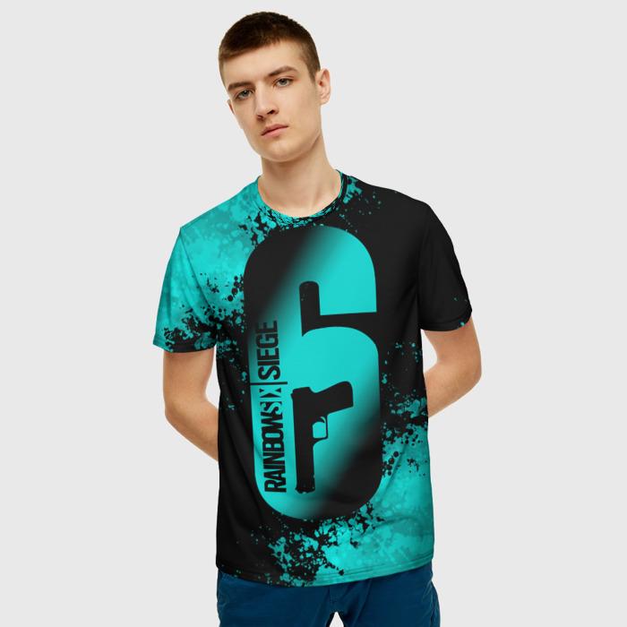 Collectibles Men'S T-Shirt Image Print Text Rainbow Six Siege