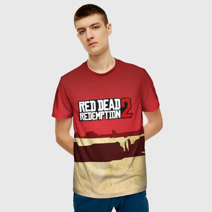 Merchandise Men'S T-Shirt Print Design Red Dead Redemption Merch