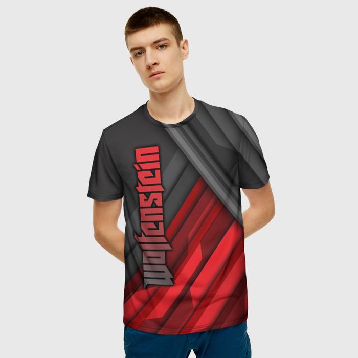 Merch Men'S T-Shirt Merch Text Black Wolfenstein