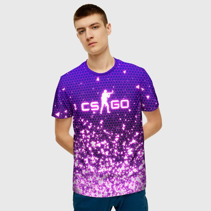Merchandise Men'S T-Shirt Gradient Title Counter-Strike Print