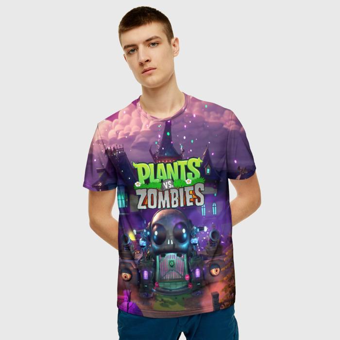 Merchandise Men'S T-Shirt Design Plants Vs Zombies Footage Print