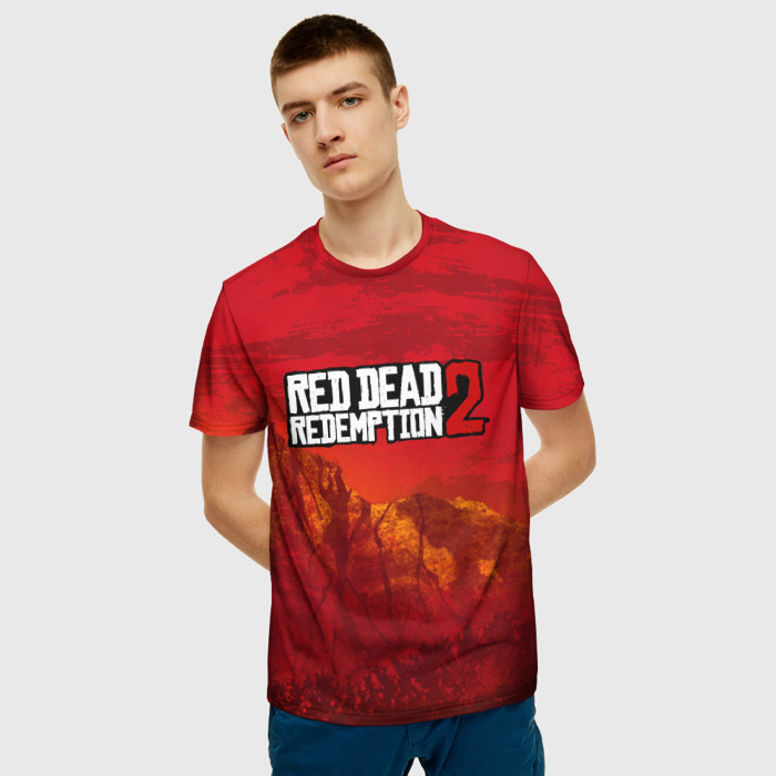 Merch Men'S T-Shirt Drawing Red Dead Redemption Clothes