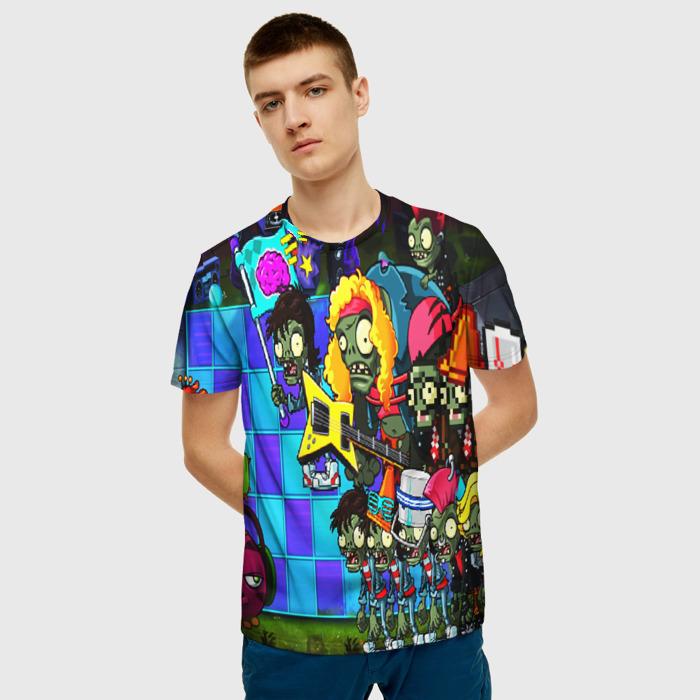 Merchandise Men'S T-Shirt Print Plants Vs Zombies Graphic Design