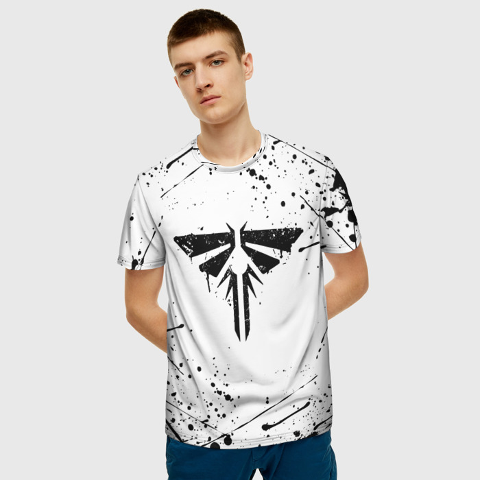 Merch Men'S T-Shirt Design The Last Of Us White Emblem