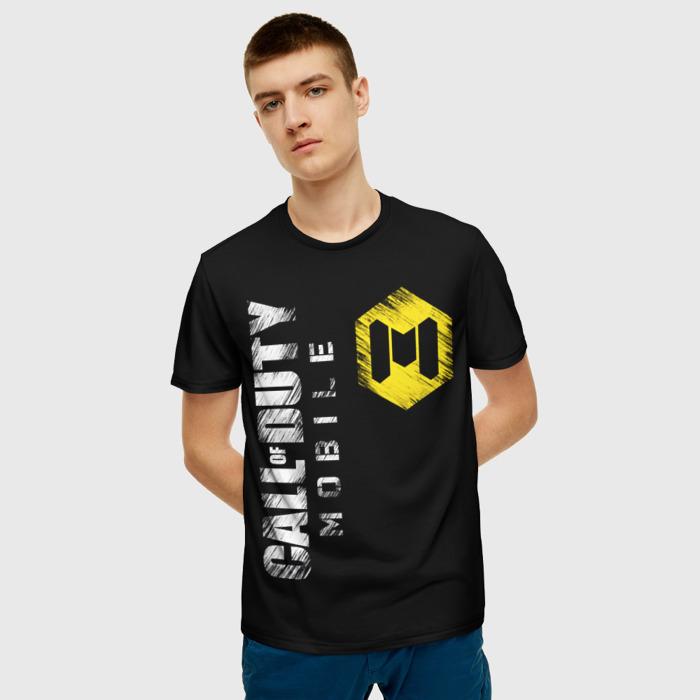 Merchandise Men'S T-Shirt Game Call Of Duty Black Title Label
