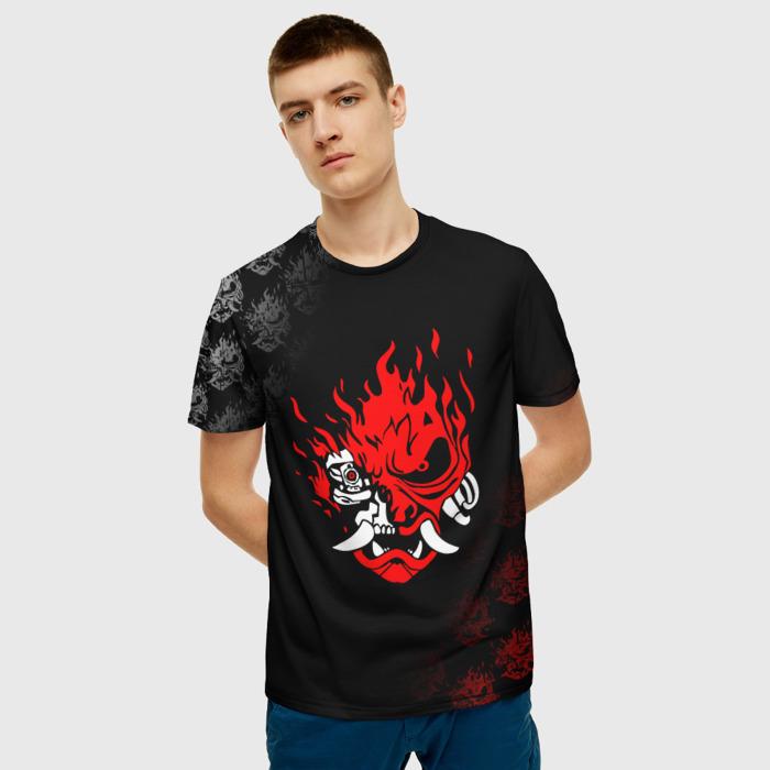 Merchandise Men'S T-Shirt Game Design Black Cyberpunk Samurai