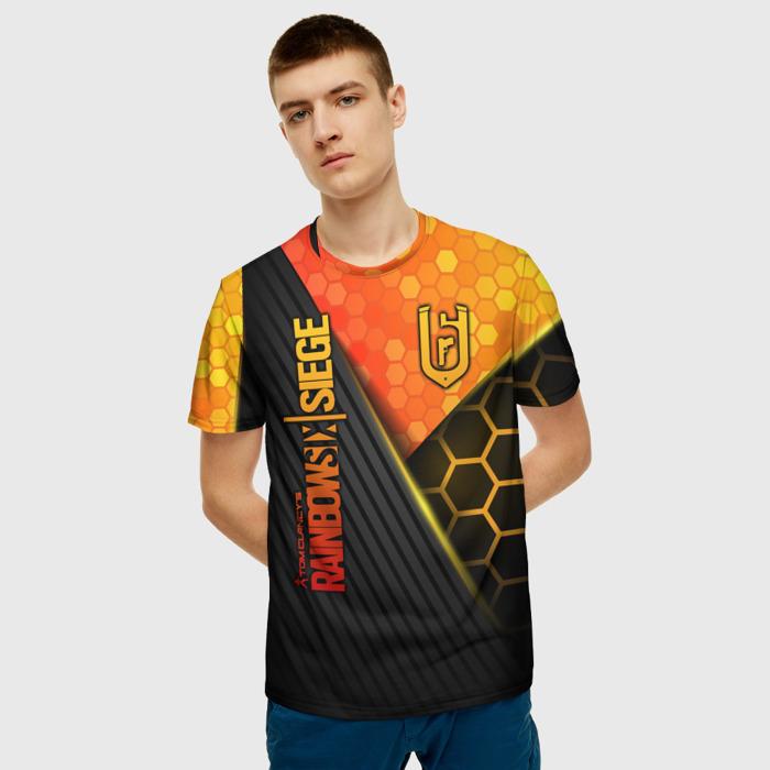 Collectibles Men'S T-Shirt Design Rainbow Six Siege Lettering