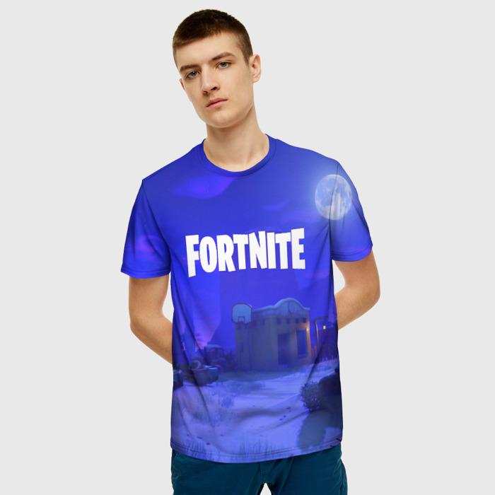 Merchandise Men'S T-Shirt Game Blue Title Fortnite Print