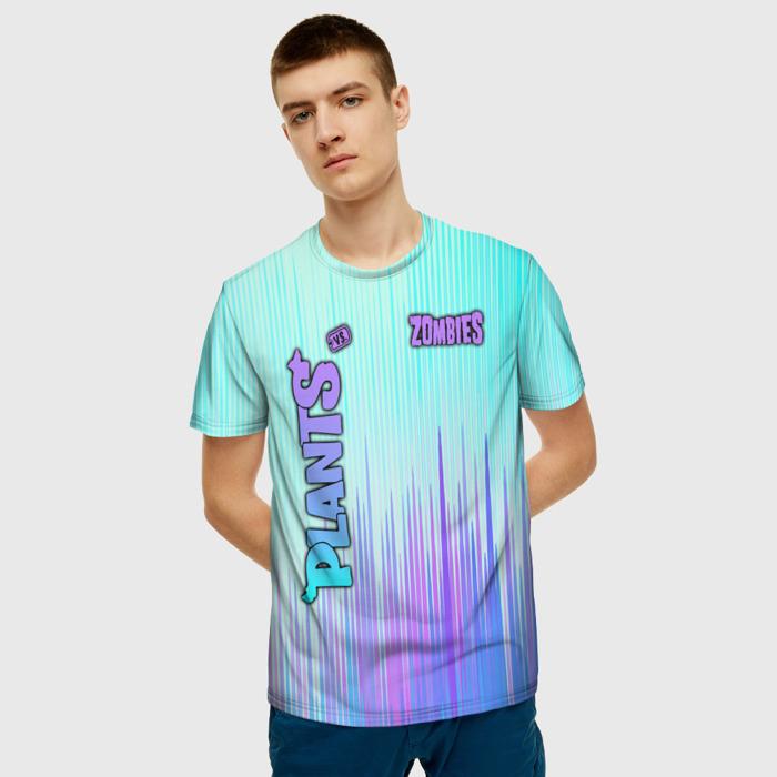 Merch Men'S T-Shirt Gradient Title Print Plants Vs Zombies