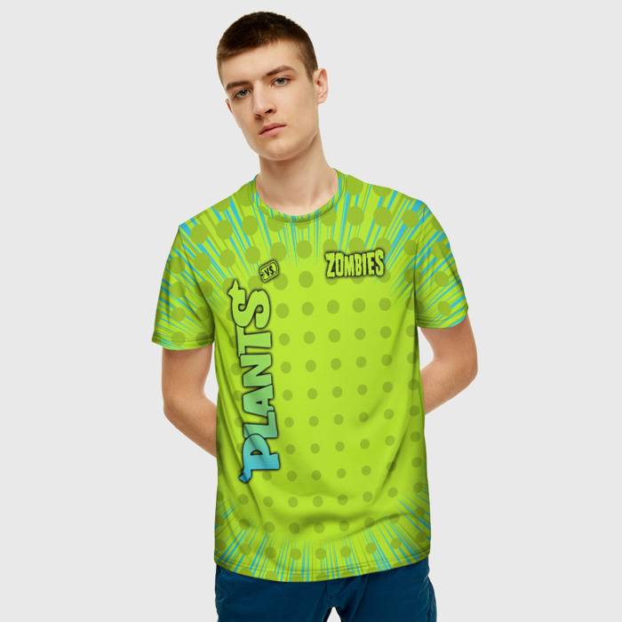 Merch Men'S T-Shirt Green Game Plants Vs Zombies Print