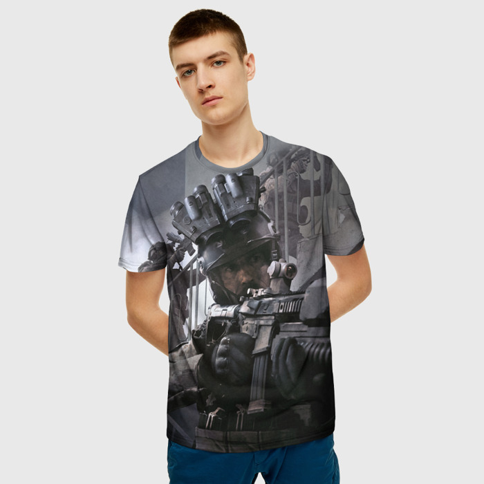 Merchandise Men'S T-Shirt Merch Call Of Duty Print Scene