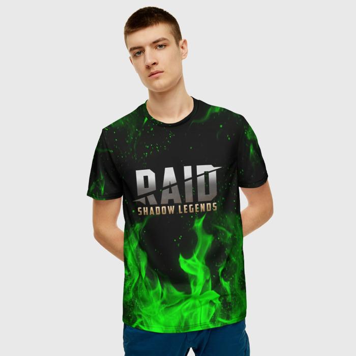 Merch Men'S T-Shirt Green Flame Raid Shadow Legends