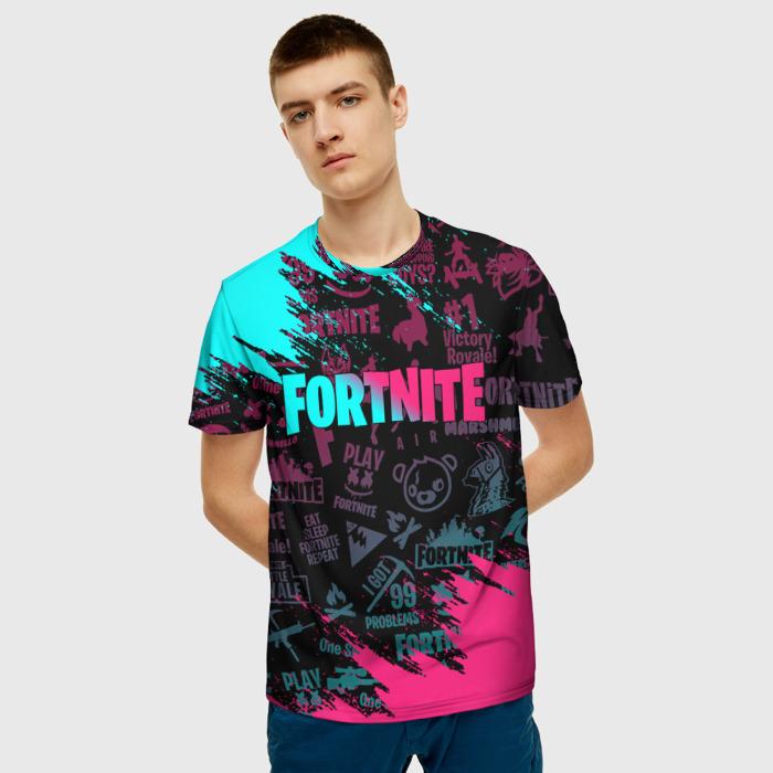 Collectibles Men'S T-Shirt Pattern Gradient Fortnite Design