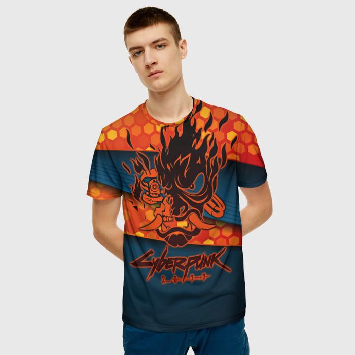 Merchandise Men'S T-Shirt Label Cyberpunk 2077 Design Clothes