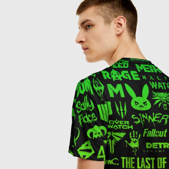 Merchandise Men'S T-Shirt Logos Black Fortnite Design
