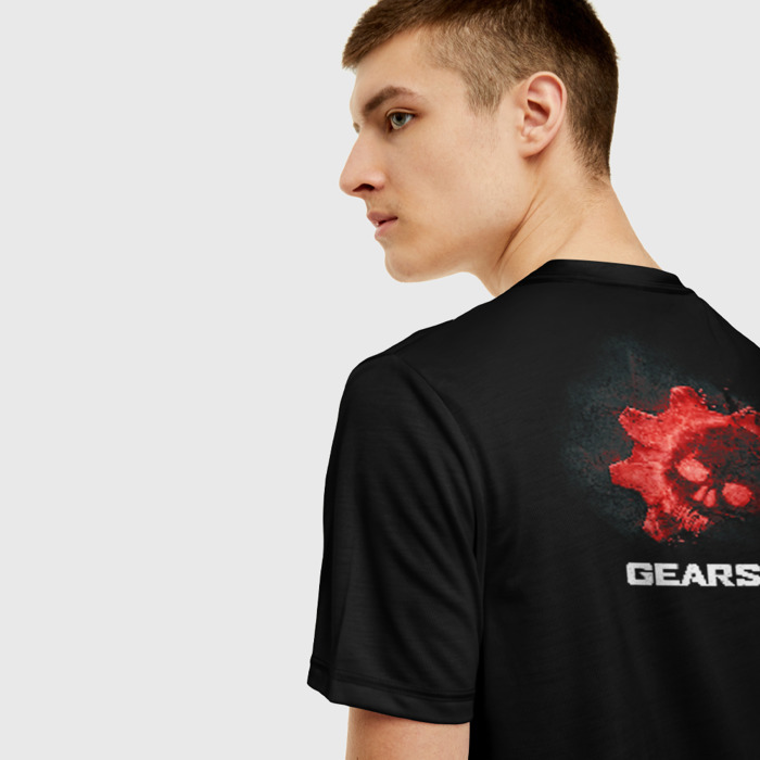 Collectibles Men T-Shirt Black Design Game Gears Of War