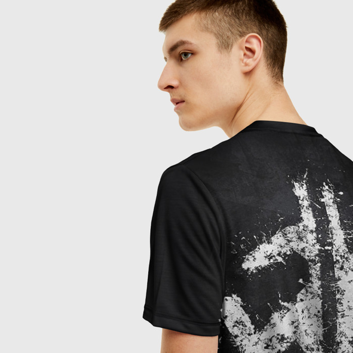 Merchandise Men T-Shirt Portal Black Tee Person Print