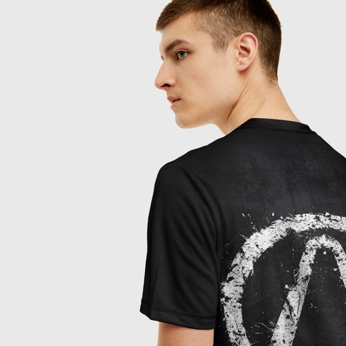 Merchandise Men T-Shirt Borderlands Black Emblem Design