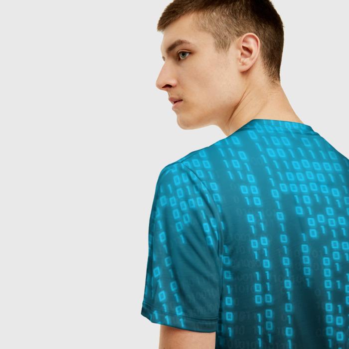 Merch Men T-Shirt Andise Cyberpunk 2077 Blue Matrix