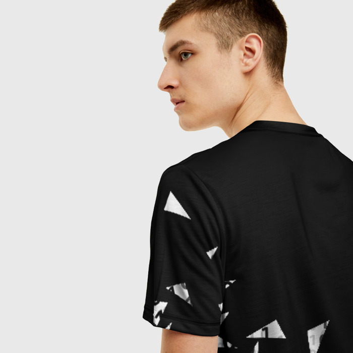 Merchandise Men T-Shirt Black Cyberpunk 2077 Print