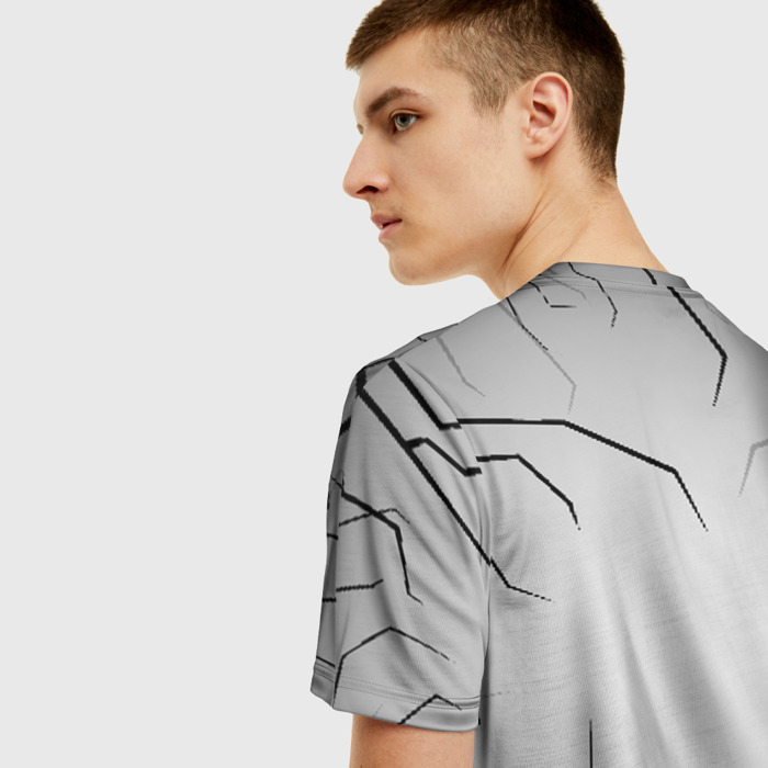 Merch Men'S T-Shirt Gray Game Rainbow Six Siege Number