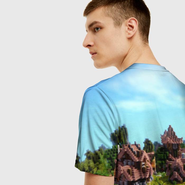 Merchandise Men'S T-Shirt Landscape Scene Print Minecraft
