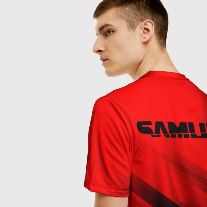 Merchandise Men'S T-Shirt Samurai Cyberpunk 2077 Red Design