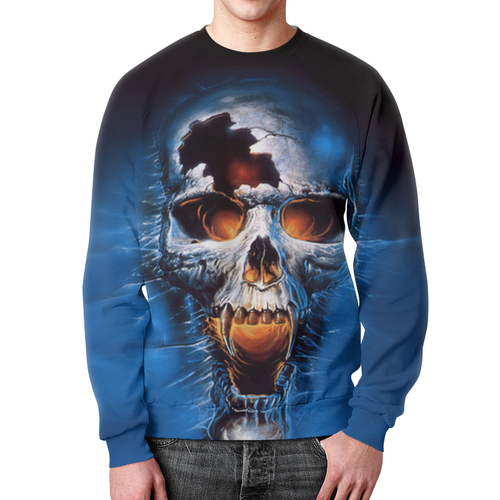 Merchandise Sweatshirt Death Skull Print Design Horror