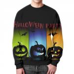 Merch Sweatshirt Halloween Party Print Black