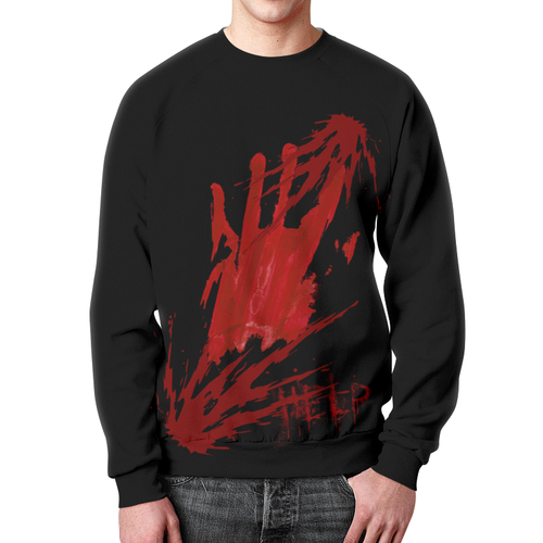 Collectibles Sweatshirt Walking Dead Horror Blood Help Print