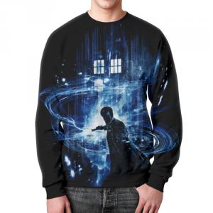 Merch Sweatshirt Doctor Who Scene Print Design Merch