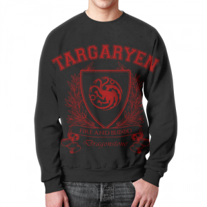 Merch Sweatshirt Game Of Thrones House Of Targaryen Black