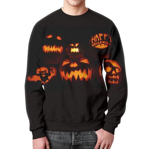 Merch Sweatshirt Happy Halloween Pumpkins
