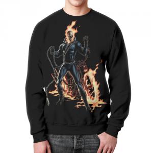 Merchandise Ghost Rider Sweatshirt Fan Art Sweater Black