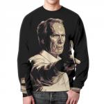 Merch Sweatshirt Clint Eastwood Actor Print