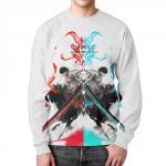 Merchandise Sweatshirt Zoro One Piece Design White
