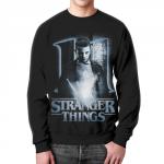 Merch Sweatshirt Strange Things Black Portrait Print