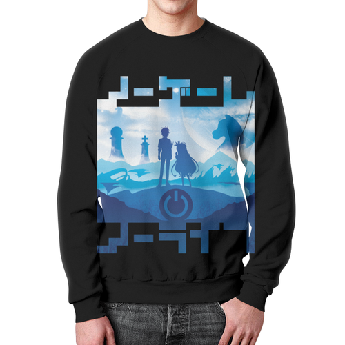 Collectibles No Game No Life Sweatshirt Blue Black