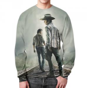 Collectibles Sweatshirt Merchandise Walking Dead Print Design