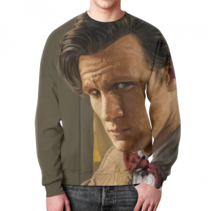 Merch Sweatshirt Doctor Who Portrait Design Print