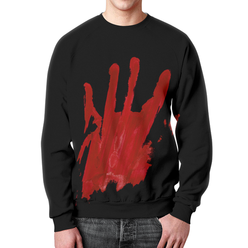 Merch Sweatshirt Design Walking Dead Hand Blood